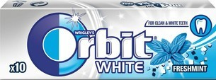 ORBIT WHITE FRESH MINT DRAŻ 14G